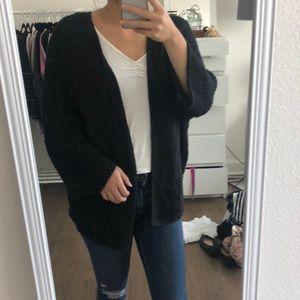 Brandy Melville Oversized Black Cardigan